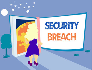 Word writing text Security Breach. Business concept for incident that results in unauthorized access of data.