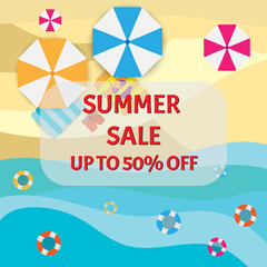 summer sale banner promotion