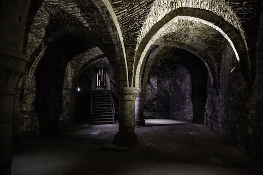 Interior of an old historic building