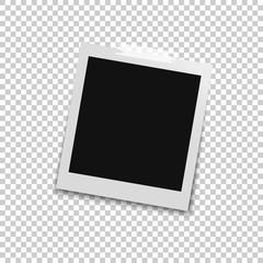 Retro photo frames with shadows. Vector illustration