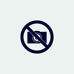 no photo icon, vector illustration. flat icon