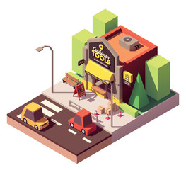 Vector isometric hardware shop