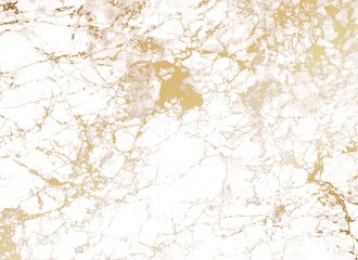 White Marble background with golden texture.