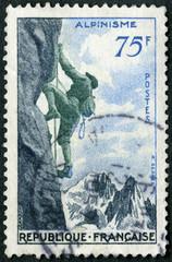 FRANCE - 1956: shows Mountain climbing