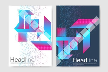 Minimal brochure templates, magazine, leaflet, flyer, cover, booklet, annual report, banner.Modern futuristic virtual abstract background.