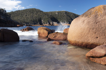 Sleepy Bay in Freycinet National Park, Tasmania.