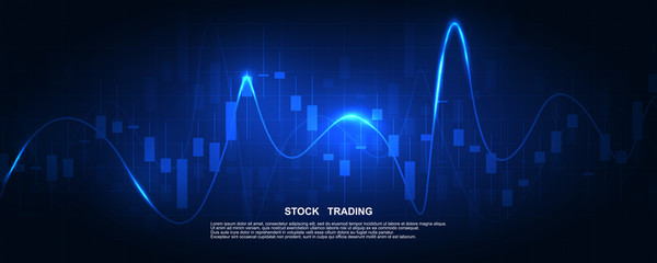 Finance statistics and data Analytics. Stock exchange market, investment, finance and trading. Trading platform. Perfect for web design, banner and presentation. Vector illustration.