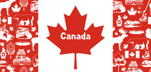 Canada background design.