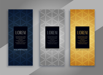 premium vintage vertical cards or banners with pattern design