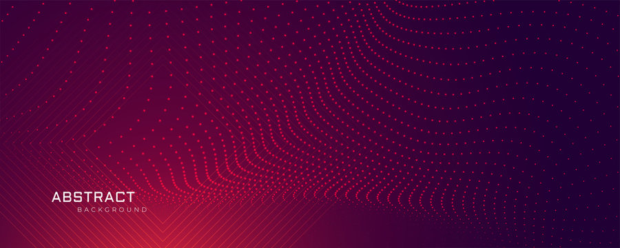 abstract particles dots background banner