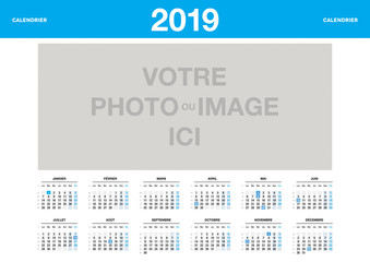 calendrier 2019 personnalisable