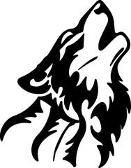 Wolf silhouette tatoo