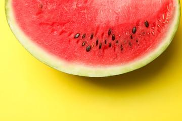 Slice fresh watermelon
