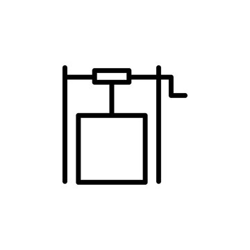 well icon. Element of autumn icon for mobile concept and web apps. Thin line well icon can be used for web and mobile