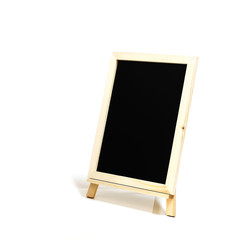blank slate blackboard isolated on white background, copy space.
