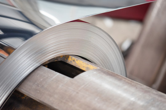 Rolled metal manufacturing for industry in factory