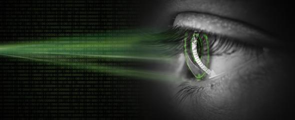 high tech biometric retina scan