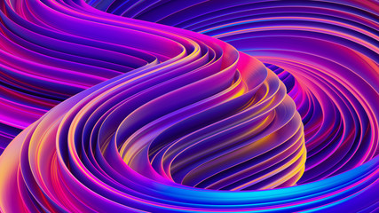 Liquid shapes abstract holographic 3D wavy background Fotoväggar