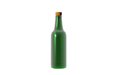 Grüne Weinflasche