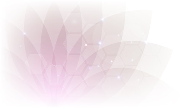 Beautiful delicate abstract transparent flower background