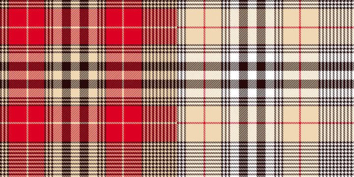 Glen or houndstooth plaid pattern