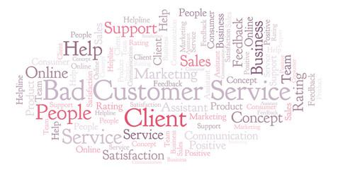 Bad Customer Service word cloud.