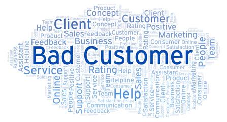 Bad Customer word cloud.
