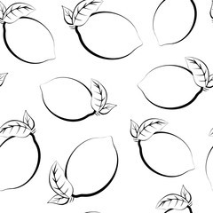 Seamless pattern of fruits. Template for printing on fabric and
