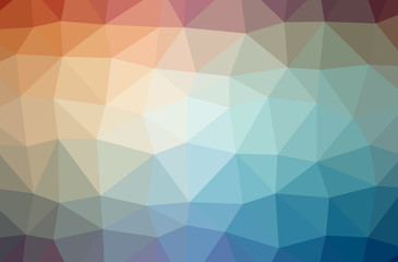 Illustration of blue abstract low poly modern multicolor background.