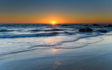 Clear Skies Sun Rising Seascape