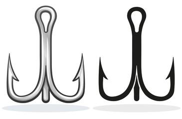 Vector fish hook design cartoon