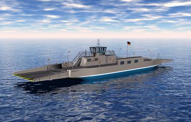 Große Autofähre auf dem Wasser