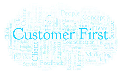 Customer First word cloud.