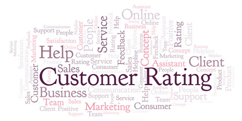 Customer Rating word cloud.