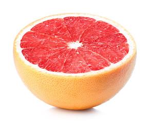 Half of ripe grapefruit