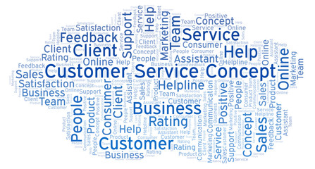 Customer Service Concept word cloud.