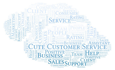 Cute Customer Service word cloud.