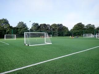 Floodlit all-weather 3G artificial grass football pitch, Meriden Community Centre, Watford