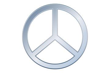 Símbolo gris de la paz.