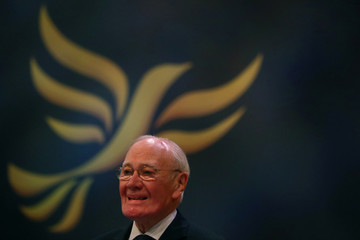 Menzies Campbell, Liberal Democrat Spokesperson on Defence, addresses the Liberal Democrats Conference in Brighton