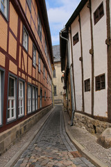 Quedlinburg, old town, narrow alley