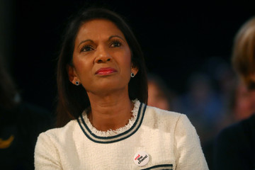Anti-Brexit campaigner Gina Miller listens to Menzies Campbell, Liberal Democrat Spokesperson on Defence, at the Liberal Democrats Conference in Brighton