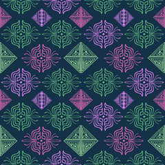 Hand drawn abstract pattern multicolor. Vector illustration popular women fashion textile print and wrapping.