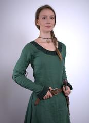 Junges Burgfräulein im Mittelalter