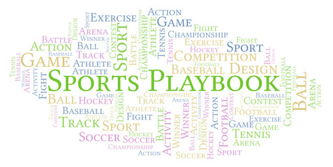 Sports Playbook word cloud.