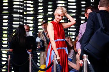 Actress Joely Richardson at the Roksanda catwalk show at London Fashion Week Women's in London