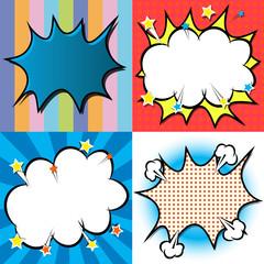 Background, pattern, set, set of backgrounds, template, pop art, comics