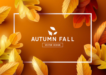 Autumn Frame Background Top View