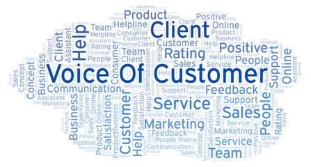 Voice Of Customer word cloud.