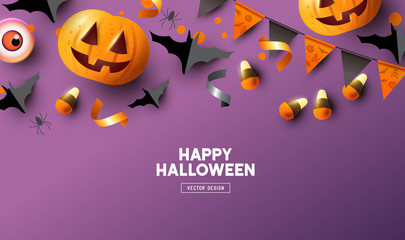 Purple Halloween Background Design